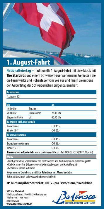 1. August-Fahrt