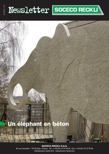 Un éléphant en béton