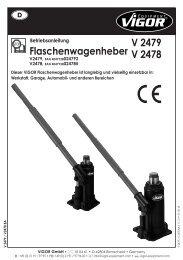 V2479 - V2478 Flaschenwagenheber - Vigor Equipment