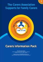 information pack singles.cdr - Carers Association