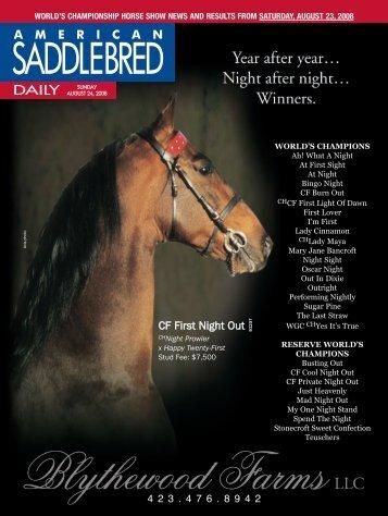Sunday - American Saddlebred Horse Association