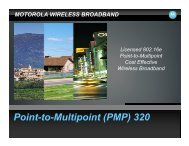 Point-to-Multipoint (PMP) 320
