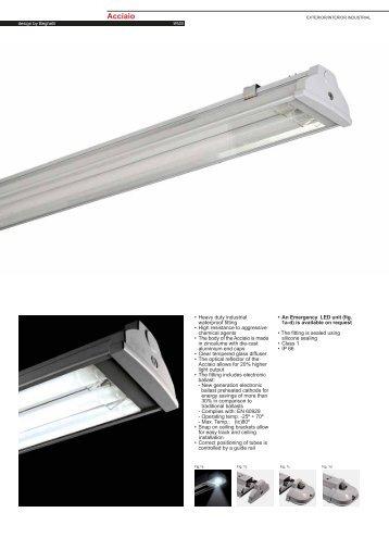 Acciaio Fluorescent T8 - Spazio Lighting