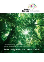 Preserving the Roots of our Future - Forest Europe