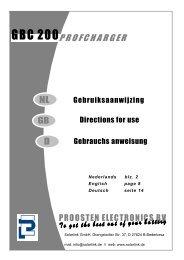 Directions for use Gebruiksaanwijzing Gebrauchs anweisung
