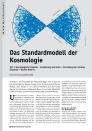 Das Standardmodell der Kosmologie, Teil 1 - Institut für ...