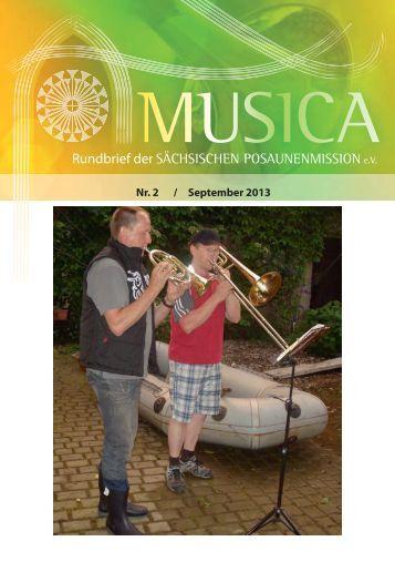 Rundbrief Nr. 2 - September 2013 - Sächsische Posaunenmission eV