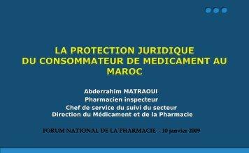 Diaporama présenté lors du Forum National de la ... - Pharmacies.ma