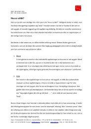 Hva er etikk? PDF-versjon - KS