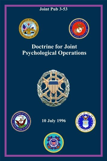 US JP 3-53: Doctrine for Joint Psychological Operations - IWS - The ...