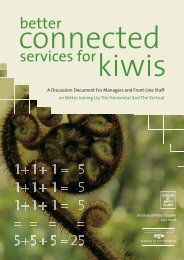Better Connected Services for Kiwis - Institute for Governance and ...