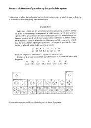 Atomets elektronkonfiguration og det periodiske system
