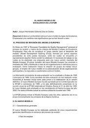EL NUEVO MODELO DE EXCELENCIA DE LA EFQM Autor ... - Gaia