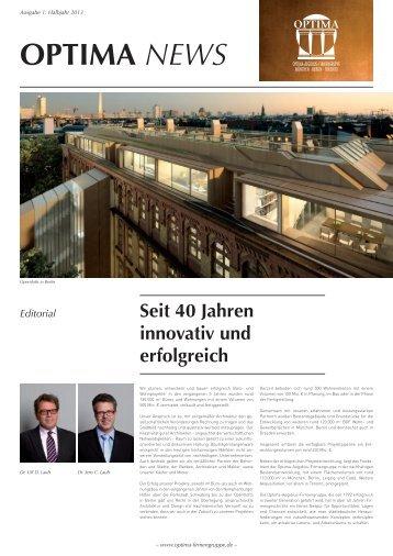 Optima News 2013 (PDF, 3 MB) - Optima Aegidius Firmengruppe