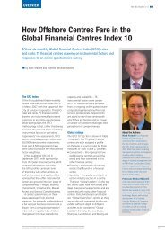 How Offshore Centres Fare in the Global Financial Centres ... - Z/Yen