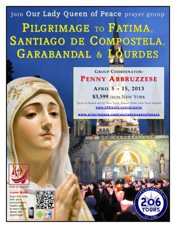 pilgrimage to fatima, santiago de compostela ... - 206 Tours
