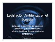 Legislación ambiental en Centroamérica y su relación con los ...