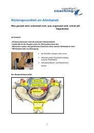 Anregungen - Comfort Coaching
