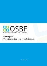 Satzung - OSBF