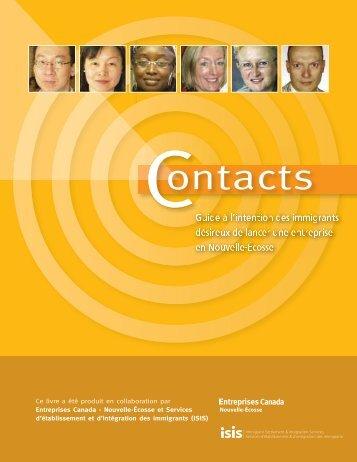 Contacts : Guide à l'intention des immigrants désireux