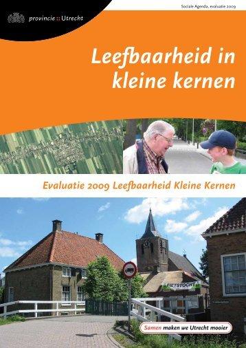 Evaluatie leefbaarheid in kleine kernen (PDF ... - Provincie Utrecht