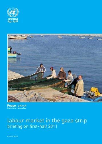 Gaza Labour Market - first half 2011 - Unrwa