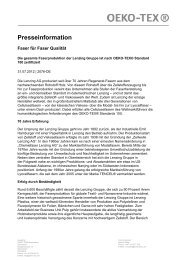 OETS 100 Company Profile LENZING AG (PDF) - Oeko-Tex