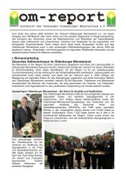 om-report 2009 - Verbund Oldenburger Münsterland