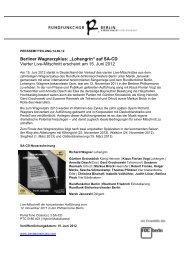 PM CD Lohengrin - Rundfunkchor Berlin