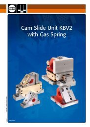 Cam Slide Unit KBV2 with Gas Spring - Fibro GmbH