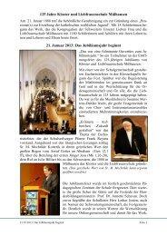 125 Jahre Kloster Mülhausen - Schwestern Unserer Lieben Frau