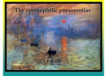 The eosinophilic pneumonias