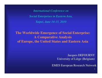 The Worldwide Emergence of Social Enterprise - PARC