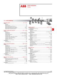 Limit switches Index - AA Electric