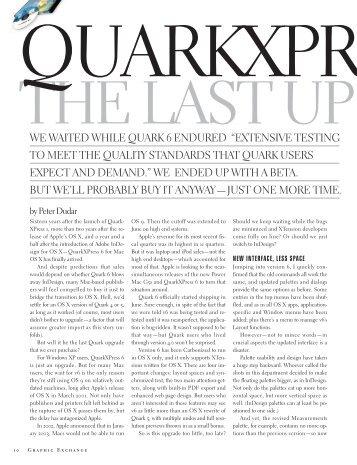QuarkXPress 6 - Graphic Exchange magazine