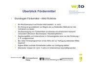 Üb bli kFö d itt l Überblick Fördermittel - Wirtschafts- und ...