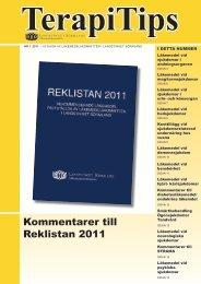 TerapiTips nr 1 2011 - Landstinget Sörmland