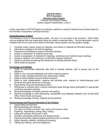 King County Library System Job Description Title: Librarian Ii