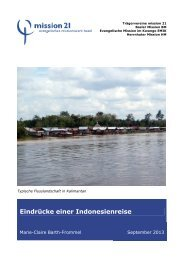 Reisebericht Marie-Claire Barth-Frommel Indonesien - Mission 21