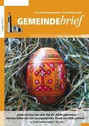 Gemeindebrief Ausgabe 2/2013 - Ev.-Luth. Kirchengemeinde .Zum ...