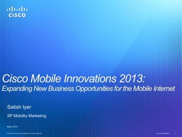 Cisco Mobile Innovations 2013: - Cisco Knowledge Network