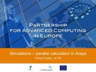 Simulations – parallel calculation in Ansys - Prace Training Portal