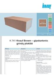 K 741 Knauf Brown – gipskartonio grindų plokštė