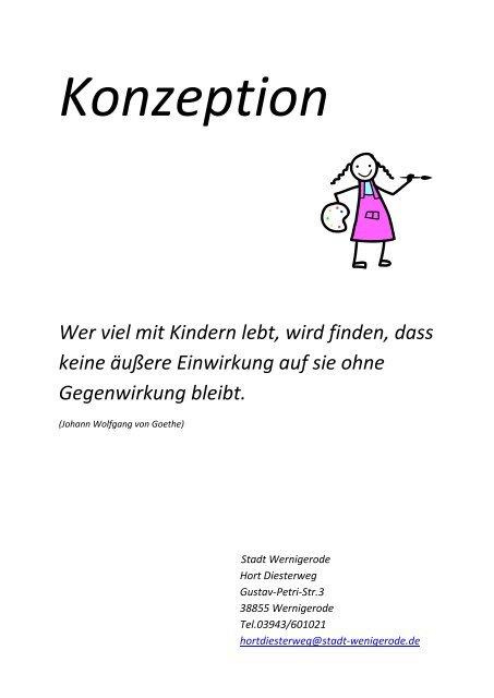 """zur Konzeption des Hortes an der Grundschule """"Adolf ... - Wernigerode"""