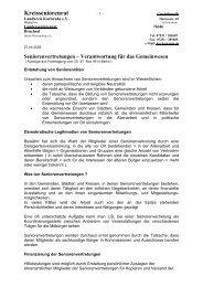 Verantwortung für Gemeinwesen - Kreisseniorenrat