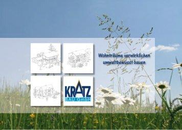 Unser Katalog - lassen Sie sich inspirieren! (pdf, 8,7 MB) - Kratz-Bau