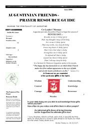 Prayer Resource for June 2006 - The Augustinians in Australia