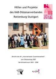 Hilfen und Projekte des KAB-Diözesanverbandes Rottenburg-Stuttgart