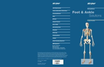 Foot & Ankle Solutions Trifold - Stryker