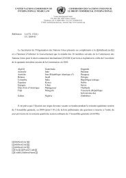 united nations commission on international trade law - uncitral
